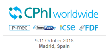 Meet us at CPHI Worldwide 2018 in Madrid Spain